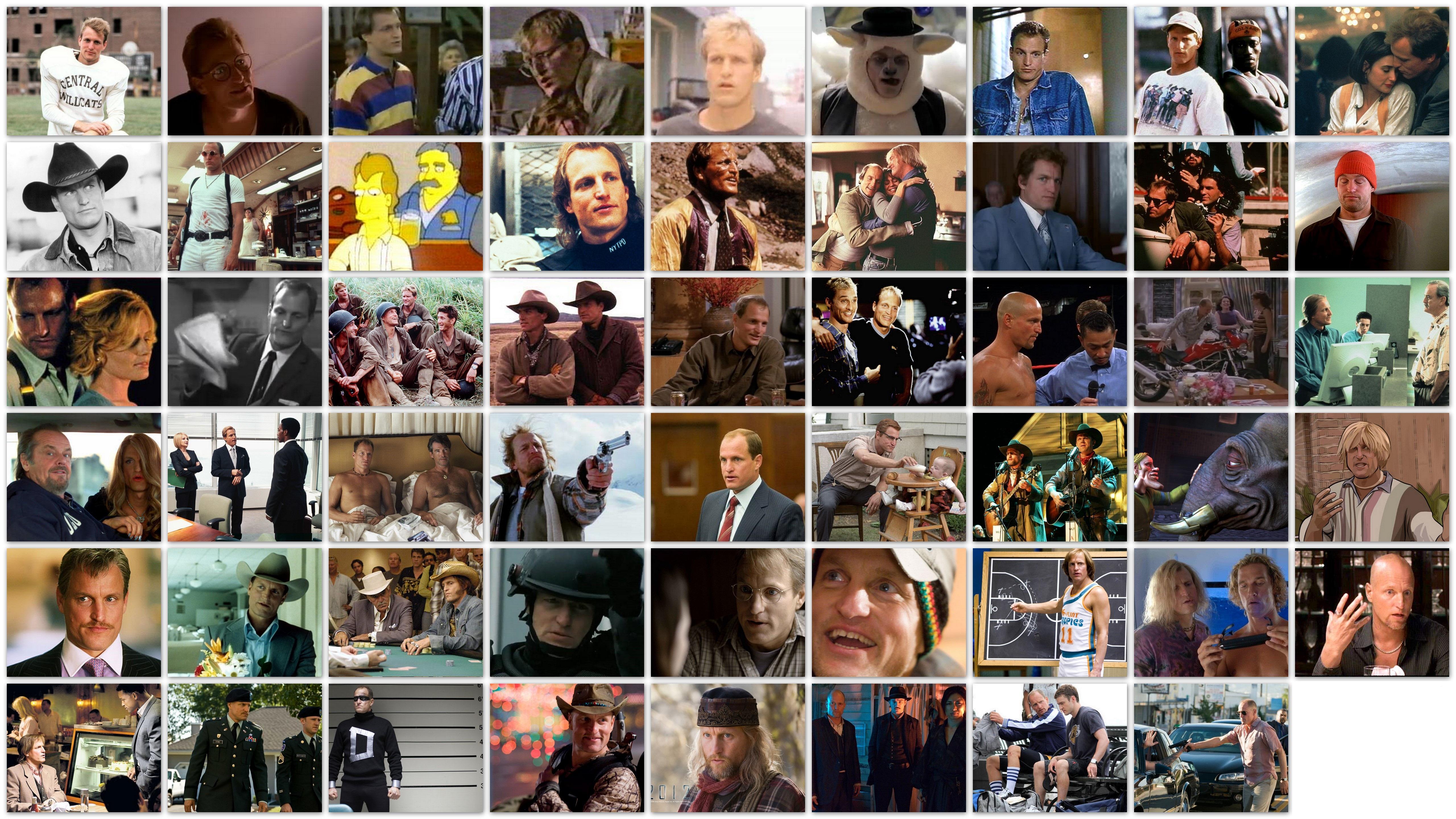 De vele gezichten van Woody Harrelson overzicht films